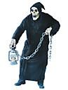 Liemannen Cosplay Kostymer / Dräkter Vuxna Herr Halloween Karnival Dag för de döda Festival / högtid Elastan Tactel Svart Karnival Kostymer Vintage
