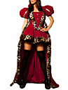Sagolikt Queen Cosplay Kostymer / Dräkter Festklädsel Dam Halloween Karnival Nyår Festival / högtid Polyester outfits Röd Lappverk