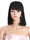Syntetiska peruker Bob-frisyr Peruk Svart Mellanbrun Syntetiskt hår 100% kanekalon hår Svart Brun