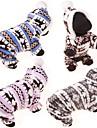 Hund Tröjor Huvtröjor Jumpsuits Vinter Hundkläder Blå Rosa Grå Kostym Cotton Ren Ledigt / vardag söt stil S M L XL XXL