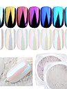 1st Puder / Glitterpulver Elegant & Lyxig / Mirror Effect / Glitter och glans Nail Art Design