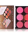 2 färger Makeup Set Pressat puder Rodna Torr / Matt Ansikte Kina Smink Kosmetisk ABS