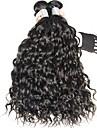 3 paket Brasilianskt hår Vattenvågor Obehandlad hår Human Hår vävar Hårförlängning av äkta hår Människohår förlängningar