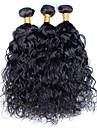 Brasilianskt hår Obehandlad hår Vågigt Hårförlängning av äkta hår 3 delar bunt hår