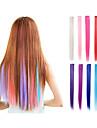 Hårförlängningar av äkta hår Hårstycke Rak Klassisk Syntetiskt hår HÅRFÖRLÄNGNING Klämma in Dagligen