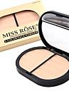 3 färger Makeup Set Pressat puder Torr / Matt / Kombination Ansikte Smink Kosmetisk ABS