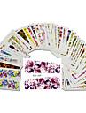 48pcs/set Vattenövergångsklistermärke / Nail Sticker Blomma / Nail Decals Klistermärken