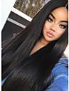 Remy-hår Hel-spets Peruk stil Indiskt hår Rak Peruk 180% Hårtäthet med babyhår 100 % handbundet Dam Lång Äkta peruker med hätta