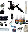 BaseKey Tattoo Machine Startkit - 1 pcs Tatueringsmaskiner med 1 x 5 ml tatueringsfärger, Professionell LCD strömförsörjning No case 1 x