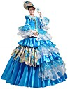 Prinsessa Queen Klänningar Cosplay Kostymer / Dräkter Balklänning Victoriansk Medeltida kostymer Renässans Party Bal Halloween Karnival Nyår Festival / högtid Blå Karnival Kostymer Plusstorlekar