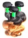 Indiskt hår Kroppsvågor Remy-hår Nyans Nyans Hårförlängning av äkta hår Människohår förlängningar