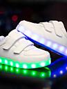 Pojkar Lysande skor PU Sneakers Lilla barn (4-7år) / Stora barn (7 år +) LED Vit / Svart Höst / Vinter