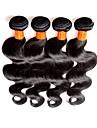 Malaysiskt hår Kroppsvågor Obehandlad hår Human Hår vävar Hårförlängning av äkta hår Människohår förlängningar