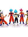 Sun WuKong Son Goku Dragon Ball Action- och leksaksfigurer Anime och manga Originella Plast Herr Pojkar Flickor Leksaker Present 6 pcs
