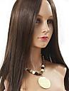 Äkta hår Hel-spets Peruk stil Eurasiskt hår Rak Peruk 130% Hårtäthet Dam Lång Äkta peruker med hätta