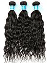 3 paket Indiskt hår Vattenvågor Obehandlat Mänsligt hår Human Hår vävar 8-30 tum Hårförlängning av äkta hår Människohår förlängningar / 8A