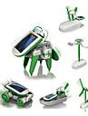 6 IN 1 Robotar Soldrivna leksaker Flygplan Väderkvarn Skepp Soldriven GDS (Gör det själv) Utbilding Barn Leksaker Present 1 pcs