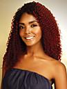 8 paket Brasilianskt hår Lockigt Klassisk Äkta hår Nyans Nyans Hårförlängning av äkta hår Människohår förlängningar / 8A