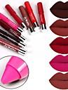 8 färger Vardagsmakeup Läppstift Torr / Matt / Mineral Vattentät / Enfärgat Smink Kosmetisk Skötselprodukter
