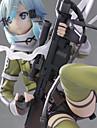 Anime Actionfigurer Inspirerad av Cosplay Shino SAO Kirito Swordman Yuuki Asuna pvc 22.5 cm CM Modell Leksaker Dockleksak