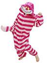 Vuxna Kigurumi-pyjamas Katt Chesire Cat Djurmönstrad Onesie-pyjamas Polär Ull Röd Cosplay För Herr och Dam Pyjamas med djur Tecknad serie Festival / högtid Kostymer