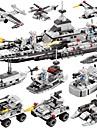 BEIQI Byggklossar Byggsats Leksaker Utbildningsleksak 472 pcs Militär Krigsfartyg Flygplan kompatibel Legoing Ny Design GDS (Gör det själv) 6 i en Klassisk Chic och modern Båt Pojkar Flickor Leksaker