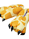 Adults\' Kigurumi Pajamas Slippers Giraffe Animal Onesie Pajamas Polyester Cotton Yellow Cosplay For Men and Women Animal Sleepwear Cartoon Festival / Holiday Costumes / Shoes