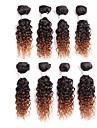 Brasilianskt hår Lockigt Klassisk Äkta hår Nyans Hårförlängning av äkta hår Människohår förlängningar