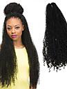 Afro Virkad Curly Weave Krulliga afroflätor Hårförlängningar av äkta hår 100% kanekalon hår Kanekalon flätor Hår till flätning 85 rötter
