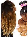 3 paket Brasilianskt hår Kroppsvågor Remy-hår Nyans 12-22 tum Hårförlängning av äkta hår Människohår förlängningar / 10A