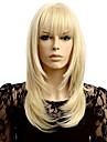 Syntetiska peruker Vågigt Vågigt Peruk Blond Korta Blond Syntetiskt hår Dam Naturlig hårlinje Blond