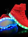 Pojkar Komfort / Lysande skor PU Sneakers Lilla barn (4-7år) / Stora barn (7 år +) LED Vit / Svart / Röd Vår & sommar / Fest / afton / TR (termoplast)