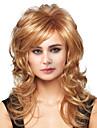 Mänskligt hår Peruk Lång Kroppsvågor Kroppsvågor Sidodel Maskingjord Dam Svart Honung Blond Medium Rödbrun 24 tum
