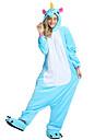 Vuxna Kigurumi-pyjamas Unicorn Pegasus Ponny Onesie-pyjamas Sammet Mink Svart / Ljusblå / Vit Cosplay För Herr och Dam Pyjamas med djur Tecknad serie Festival / högtid Kostymer