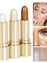 3 färger Concealer Highlighters och bronzers Överstrykningspennor 3 pcs Skimmrig Naturlig Ljusglimmer / Stift Smink Kosmetisk