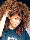 Syntetiska peruker Lockigt Lockigt Peruk Mellan Beige Syntetiskt hår Dam Afro-amerikansk peruk Brun
