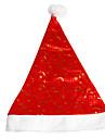 Hattar Santa Clothe Jul Festival / högtid Sammet outfits Röd