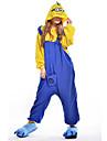 Vuxna Kigurumi-pyjamas Animé Mini gula män Film- och TV-kostymer Onesie-pyjamas Polär Ull Blå Cosplay För Herr och Dam Pyjamas med djur Tecknad serie Festival / högtid Kostymer