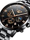 Men\'s Dress Watch Mechanical Watch Quartz Watches Japanese Quartz Luxury Water Resistant / Waterproof Analog Rose Gold Black Red / Stainless Steel / Stainless Steel / Calendar / date / day