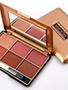 4 färger Makeup Set Pressat puder Rodna Torr / Kombination / Oljig Långvarig Rodna Kina Smink Kosmetisk