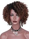 Syntetiska peruker Afro Afro Frisyr i lager Peruk Korta Svart / Brun Grå Syntetiskt hår Dam Mörka hårrötter Brun