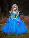 Aurora Klänningar Barn Flickor Jul Halloween Maskerad Festival / högtid Polyster Blå / Rosa Karnival Kostymer Färgblock