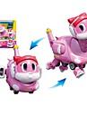 Robotar Leksaksbåtar Båt Fordon Dinosaurie Djur omvandlings Djur Föräldra-Barninteraktion Djurmönstrad Mjuk plast Barn Leksaker Present 1 pcs