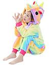 Barn Kigurumi-pyjamas Unicorn Pegasus Ponny Onesie-pyjamas Flanelltyg Gul Cosplay För Pojkar och flickor Pyjamas med djur Tecknad serie Festival / högtid Kostymer