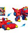 Robotar Leksaksbåtar Racerbil Fordon Dinosaurie Djur omvandlings Djur Föräldra-Barninteraktion Djurmönstrad Mjuk plast Barn Leksaker Present 1 pcs