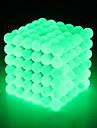 64 pcs 5mm Magnetleksaker Magnetiska kulor Byggklossar Superstarka neodymmagneter Neodymmagnet Puzzle Cube Neodymmagnet Strå Magnetisk typ Självlysande Stress och ångest Relief Lysrör