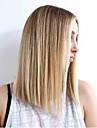 Syntetiska peruker Rak Rak Peruk Blond Mellan Medium Brun / Rödlätt Syntetiskt hår Dam Sidodel Blond