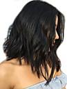 Äkta hår Helnät utan lim Hel-spets Peruk Bob-frisyr stil Brasilianskt hår Löst vågigt Naturligt vågigt Peruk 130% Hårtäthet med babyhår Blekt knutar Dam Korta Mellan Äkta peruker med hätta XCSUNNY