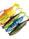 5 pcs Fiskbete Mjukt bete Pimplar shad Klassisk Generisk Sjunker Bass Forell Gädda Sjöfiske Drag-fiske Plast