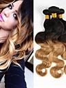 3 paket 4 paket Brasilianskt hår Kroppsvågor Obehandlad hår Nyans 10-20 tum Nyans Hårförlängning av äkta hår 8a Människohår förlängningar / 10A